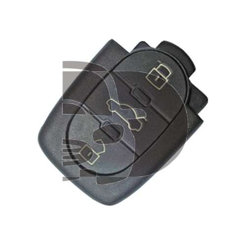AUDI SHELL - 3 BUTTONS - SMALL BATTERY PLACE