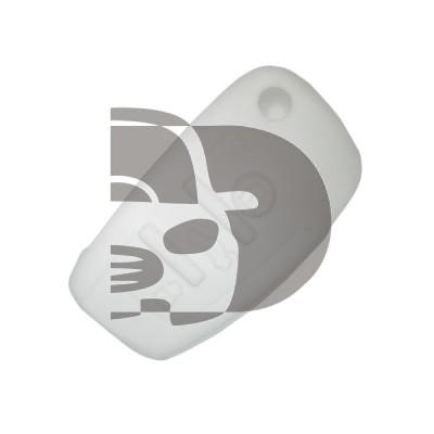HOUSSE TELECOMMANDE AUDI BLANC  3 BOUTONS (RIGIDE)
