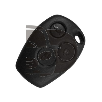 COQUE TELECOMMANDE RENAULT 3 BOUTONS